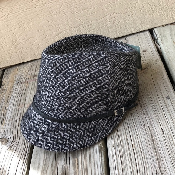 25dd4946ea24 NWT Black Tweed Fedora Hat. Boutique. San Diego Hat Company